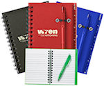 Spiral Notebooks And Pen
